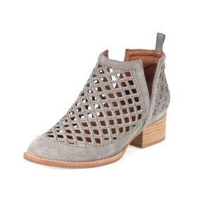 JEFFREY CAMPBELL Taggart Booties Grey Suede